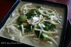 Green Enchilada Chicken Soup - 24/7 Low Carb Diner