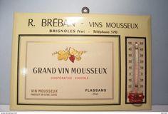 FLASSANS-SUR-ISSOLE ( Coopérative Vinicole ) - BRIGNOLES - ( R.BREBAN ) - THERMOMETRE -PUBLICITE - VINS MOUSSEUX - Autres Collections