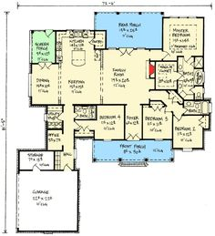 Plan 14173KB: French Country Home With 11 Master Ceiling