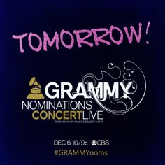 Tune in tomorrow night to see who is nominated for this year's 56th GRAMMY Awards on CBS!