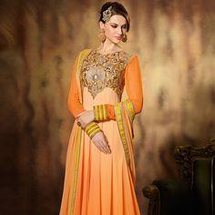 #Orange Style #ChuridarKameez