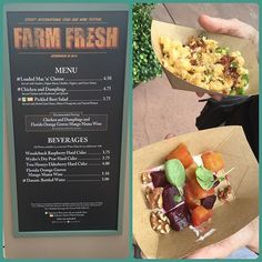 Our first stop in the Epcot International Food and Wine Festival was Farm Fresh.
