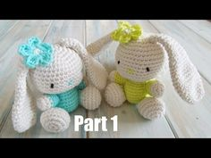 (crochet) Pt1: How To Crochet an Amigurumi Rabbit - Yarn Scrap Friday - YouTube