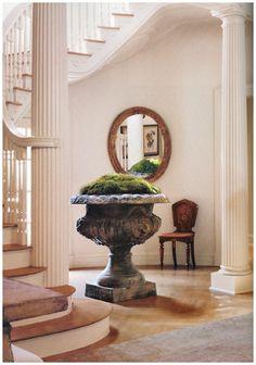 giant moss urn