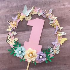 Butterfly cake topper, 1 cake topper – Famous Last Words Butterfly Birthday Cakes, Butterfly Birthday Party, Butterfly Cakes, Fairy Birthday, Birthday Diy, Birthday Photos, 1st Birthday Party For Girls, Unicorn Birthday Parties, Birthday Party Decorations