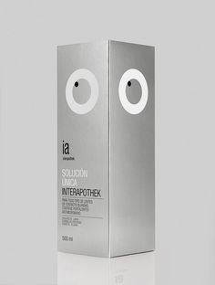 interapothek: solid and minimal packaging design in metallic look   Design: interapothek @ lovely package  
