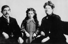 Eva Hart is pictured as a seven-year-old in this photograph taken in 1912 with her father, Benjamin, and mother, Esther. Eva and her mother survived the sinking of the British liner Titanic on April 14, 1912 off Newfoundland, but her father perished in the disaster.
