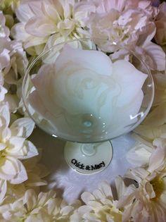 White Rose Glass by thepaintedflower on Etsy