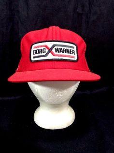 6c066b1e Borg Warner Trucker Hat Rockabilly Red Work Patch Snapback Summer Cap
