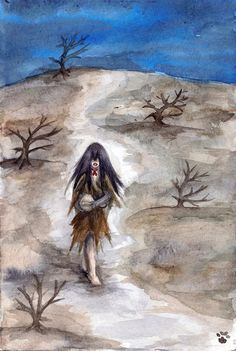 "Archeri- Indian folklore: the spirit of a little girl who comes down from mountains and hilltops at night to bring sickness to humans, particularly children. They are also referred to as ""hill fairies"". The only defense against an Acheri was thought to be a red ribbon tied around one's neck. The Acheri is said to bring death to the elderly or other people with low immune system defenses."