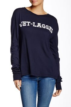 Reversible Jet Lagged Long Sleeve Tee by WILDFOX on @nordstrom_rack