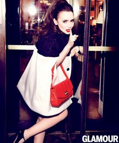 Lily Collins at Glamour magazine