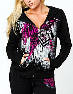 New!  Metal Mulisha ROCKSTAR Rock On Zip Sweater Black  Reg. Price $52.00  Sale Price: $44.99    Metal Mulisha Maidens hoodie. Rockstar zip fleece. 80% Cotton / 20% Polyester. Allover front screenprint and back screenprin    http://www.cluburban.com/Metal-Mulisha-ROCKSTAR-Rock-On-Zip-Sweater-Black-p/mmw-m327s22326-blk.htm#