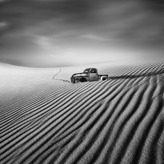 Tangoulis uses long exposures and neutral density filters to capture strong contrast in the minimalist scenes.