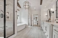 Beautiful master bathroom decor some ideas. Modern Farmhouse, Rustic Modern, Classic, light and airy master bathroom design some ideas. Bathroom makeover suggestions and master bathroom renovation suggestions.