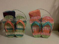 flip flop beach baskets