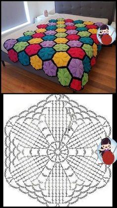 Granny Square Häkelanleitung, Granny Square Crochet Pattern, Crochet Diagram, Crochet Stitches Patterns, Crochet Chart, Crochet Motif, Knit Crochet, Crochet Afghans, Crochet Books