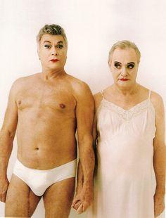 Tony Curtis & Jack Lemmon  photographed by Annie Leibovitz for Vanity Fair Magazine. April, 1995