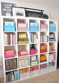 Design How To: 9 Tips To Style Your Bookshelves Like A Pro! Office  OrganisationOffice Storage IdeasStationary ...