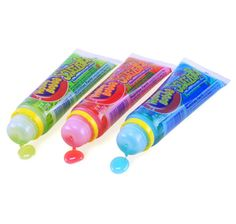 Squeeze Pops!! My sister and I still find these on occasion. Liquid candy injected straight from tube to mouth.