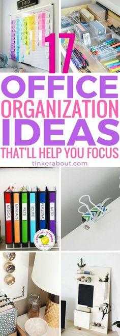 17 Office Organization Ideas That'll Help You Focus