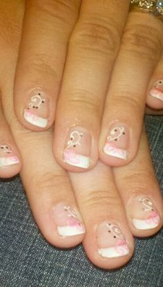 Gel nails even cute on short nails