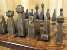 Blacksmith Chess Set Metal Chess Set Collectible by EchoHillForge
