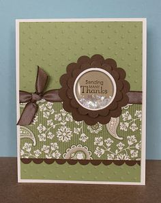 Love these colors and the addition of the shaker frame just makes the card...
