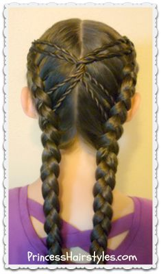 Hourglass Braid from Princess Hairstyles Princess Hairstyles, Girl Hairstyles, Wedding Hairstyles, Pageant Hairstyles, Cute Hairstyles For Teens, Beautiful Hairstyles, Braid Hairstyles, Braid Styles, Short Hair Styles