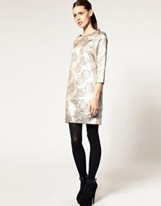 ASOS Shift Dress in Metallic