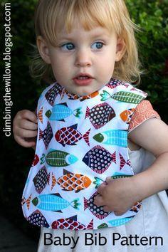 Baby/Toddler Bib - FREE pattern and sewing tutorial