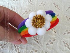 Pipe Cleaner Rainbow Bracelet by @Amanda Formaro Crafts by Amanda