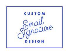 Custom Email Signature, Email Signature Template, Custom Gmail ...