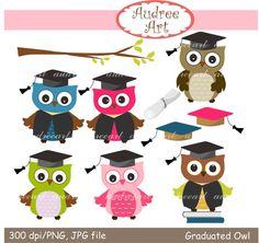 He encontrado este interesante anuncio de Etsy en https://www.etsy.com/es/listing/234092254/owls-clip-art-cute-graduated-owls-clip