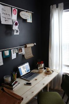 simple workspace (via Organized Craft Spaces)