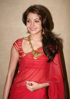 All Red  Sarees  | ... Image Back to Anushka Sharma Stills in Red Saree Next Image