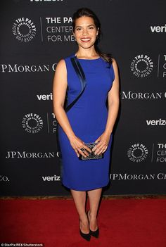 America the beautiful: America Ferrera was a lovely sight in deep blue as she attended The Paley Center for Media's Tribute to Hispanic Achievements in Television