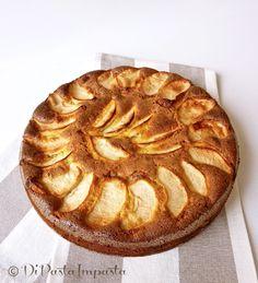 Torta di mele di kamut con pasta di mandorle