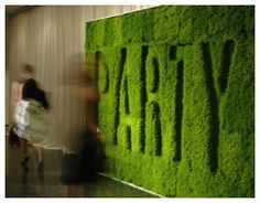 living wall that sets the tone...