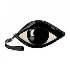 LuLu Guinness Black Eye Coin Purse