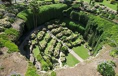 sinkhole made into a botanic garden at mt gambier, australia