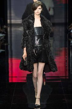 Giorgio Armani Privé - Haute Couture Fall 2014-Winter 2015 #fur #fashion