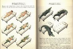 A page from 'Codex Seraphinianus', Luigi Serafini, published 1981. Codex Seraphinianus is an illustrated encyclopedia of imaginary things written in an unknown language using an unknown alphabet. It took Serafini 30 months to complete. (Many more pages at the link)