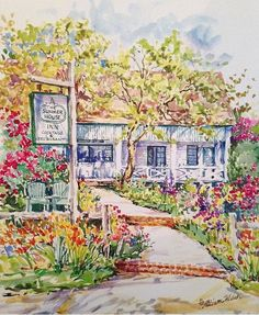 Summer in Nantucket is what dreams are made of. This small island off the coast of Massachusetts is magical. Summer House Restaurant, Oil Painting App, Restaurant Photos, Nantucket Island, Great Wall Of China, Animation, Types Of Art, Free Coloring, Garden Art