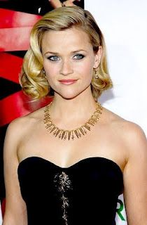wavy up do - retro hair - Reese Witherspoon.... possible hair style for attending a wedding