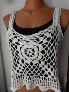 Crochet top Crochet Tank Crochet halter Top by idafrompushkin