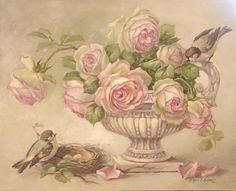 Christie Repasy paints Eden Roses - I love everything about this gorgeous painting!