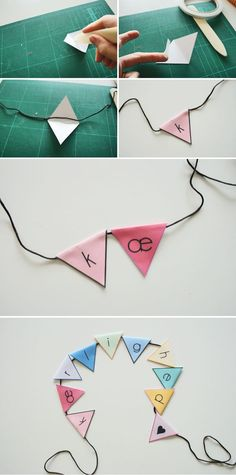 Mini banner til bryllup Mini Banner, Beautiful Moments, Diy Gifts, House Warming, Creative, Origami, Diy And Crafts, Arrow Necklace, Wedding Inspiration