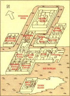 Map of Phlan - 3D drawing