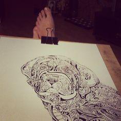 #mastiff #dog #draw #pen #ink